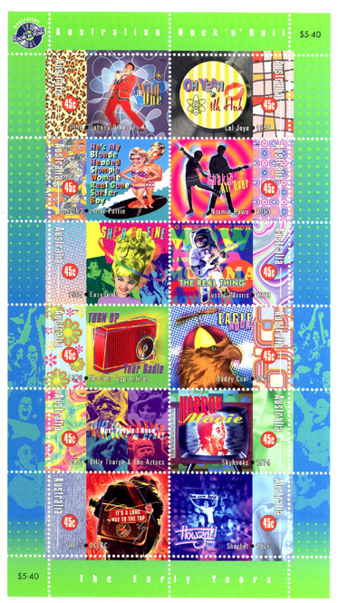 Australian Rock and Roll postage stamps (1998) image