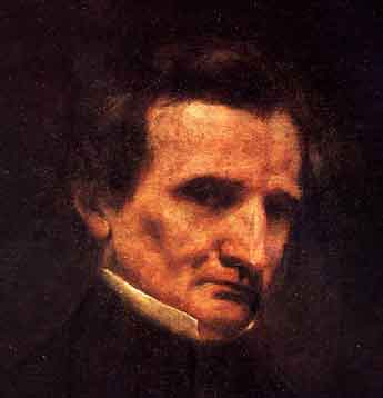 Hector Berlioz in 1850, as painted by Gustave Courbet (image)