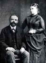 Dvorak and his wife, Anna, 1886 (image)