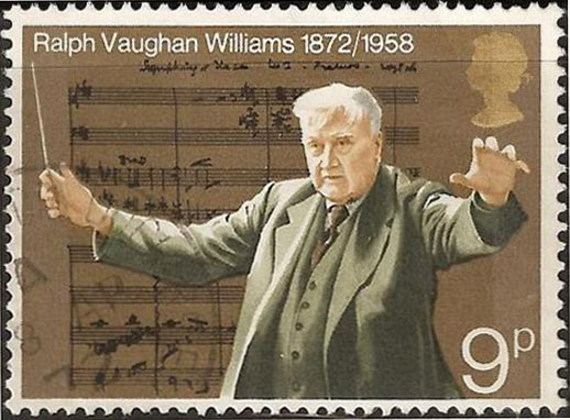 Ralph Vaughan Williams postage stamp (image)