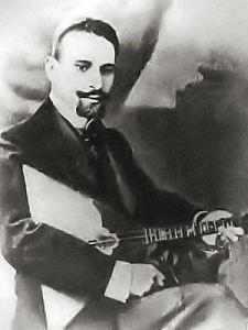 Andreyev with balalaika (image)