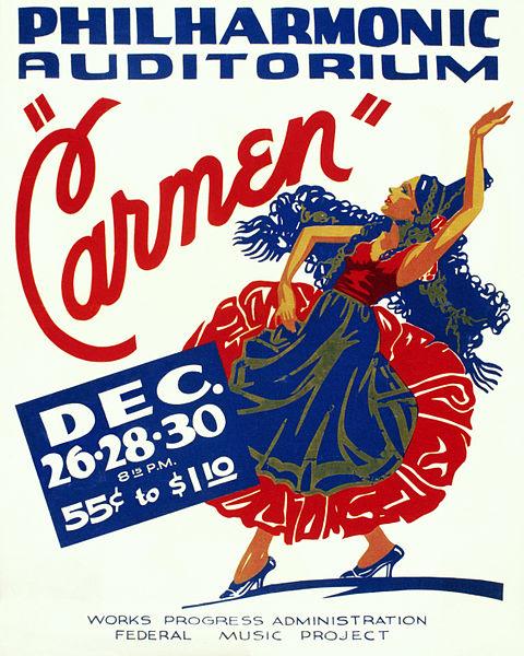 Bizet - Carmen - poster (c. 1939) image
