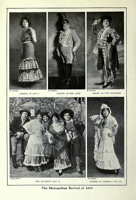 1915 Carmen revival, Metropolitan Opera, New York (image)