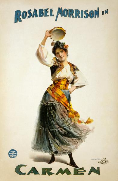 Bizet's Carmen - 1896 poster (image)
