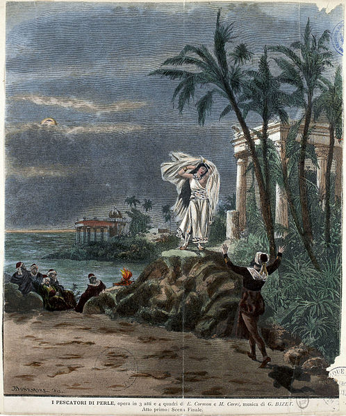Set design for The Pearl Fishers, 1886 (image)