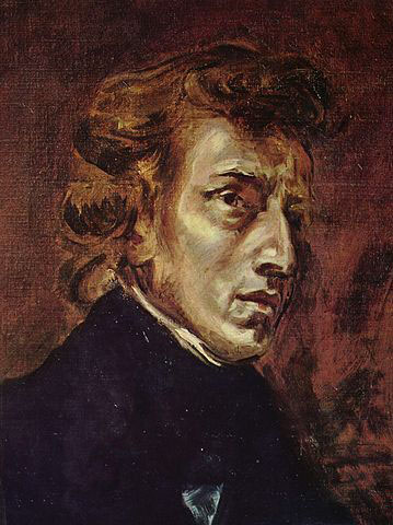 Chopin, painting by Delacroix (image)