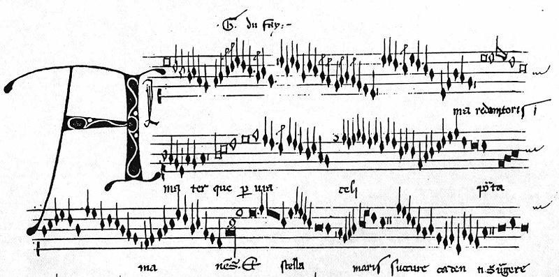 Dufay music (Alma redemptoris mater) image