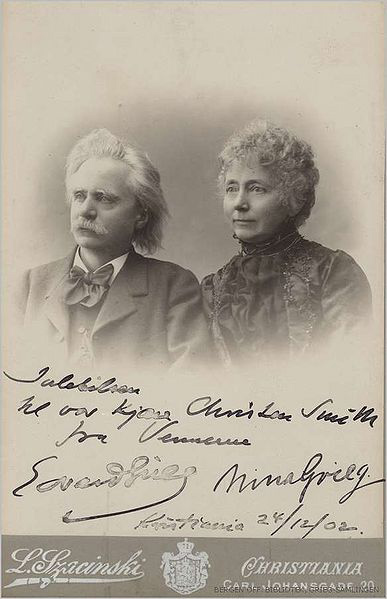Edvard Grieg and wife Nina (image)