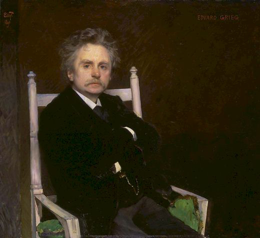 Edvard Grieg - painting by Peterssen (image)