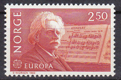 Edvard Grieg - 1983 Norway stamp (image)