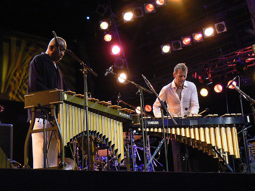 Bobby Hutcherson and Joe Locke on vibraphones (image)
