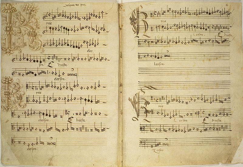 Missa de beata virgine kyrie (Josquin Des Prez) manuscript