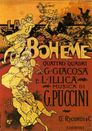 Poster for Puccini's opera, La Boheme (designer: Adolfo Hohenstein) (image)