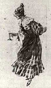 Mimi costume, designed by Adolf Hohenstein, for La boheme (Puccini) (image)