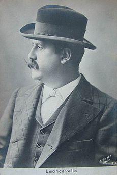 Ruggero Leoncavallo (1910 postcard) image