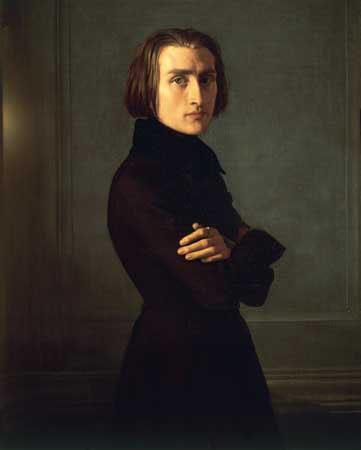 Franz Liszt - painting by Henri Lehmann (image)