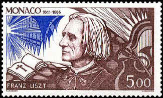 Liszt as priest and musician (image)