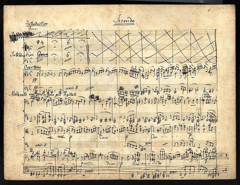 Manuscript of Mendelssohn's Elijah (image)