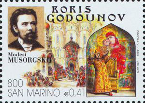 Boris Godunov, an opera by Mussorgsky (image)