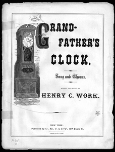 My Grandfather's Clock music score (image)