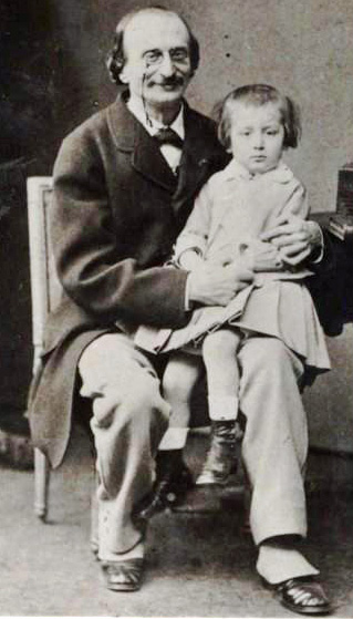 Offenbach and his son, Auguste (image)