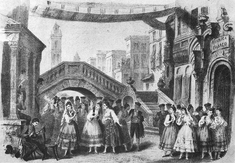Original production of Bizet's opera Carmen, 1875 (image)