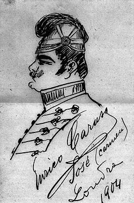 Enrico Caruso as Don Jose in Bizet's opera Carmen, c. 1904 (image)