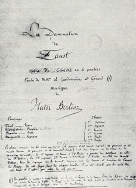 Original MS of Berlioz's La Damnation de Faust (image)