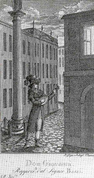 Luigi Bassi in Mozart's opera Don Giovanni (image)