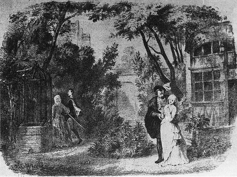 Gounod's opera Faust, Paris - original production in Paris, 1859 (image)