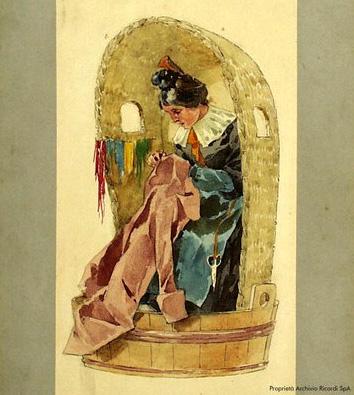 World premiere of Puccini's La boheme, Turin, 1893 (image)