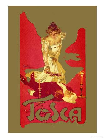 Adolfo Hohenstein poster for Puccini's opera La Tosca (1899) (image)
