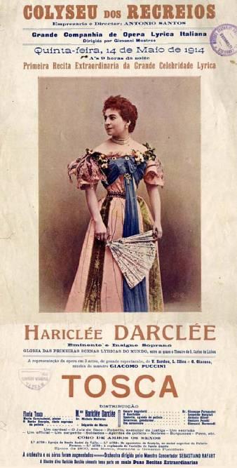 Hariclea Darclee in Puccini's La Tosca, 1914 performance (image)