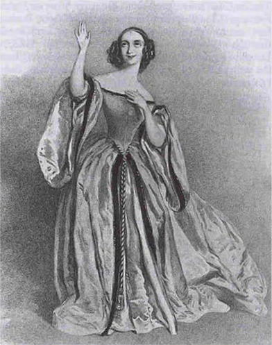 Fanny Tacchinardi-Persiani as Lucia in Donizetti's Lucia di Lammermoor, London, 1838 (image)