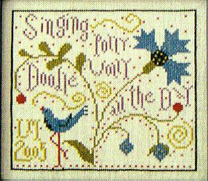 Polly Wolly Doodle cross stitch (image)