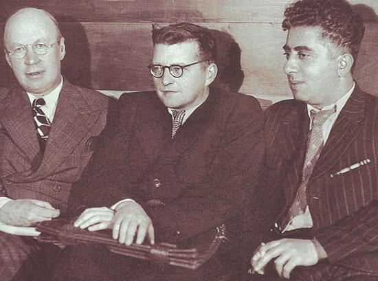 Prokofiev, Shostakovich and Khachaturian, 1940 (image)