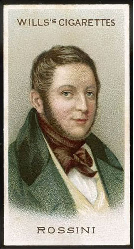 Rossini on Wills cigarette card (image)