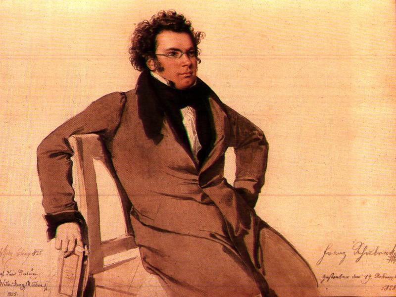 Franz Schubert as depicted by Rieder (image)