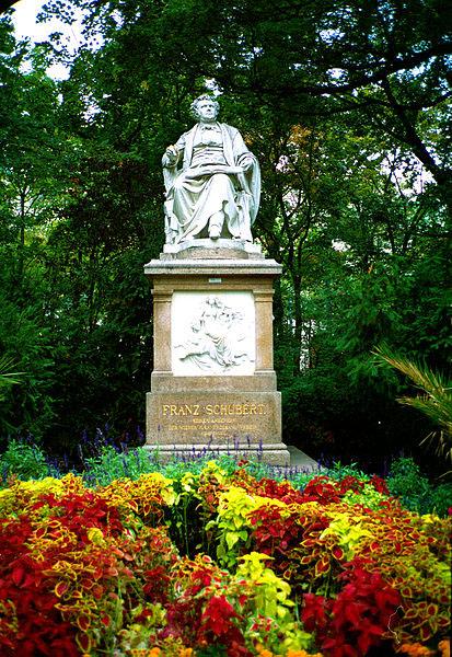 Schubert memorial, Vienna, Austria (image)