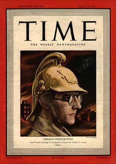 Shostakovich on Time Magazine cover, 1942 (image)