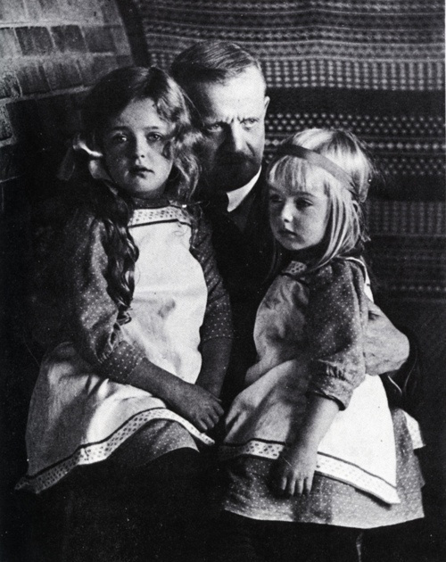 Sibelius and daughters, Heidi and Margaret (image)