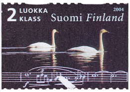 Swans and Sibelius score (image)