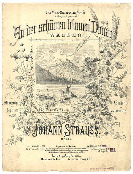 Blue Danube (Strauss) score (image)
