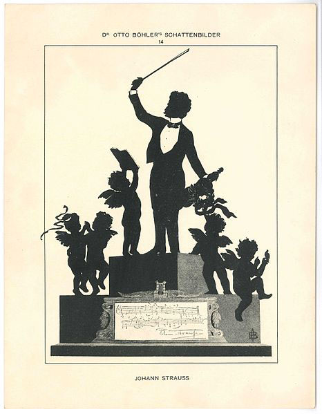 Joseph Strauss II - silhouette by Otto Bohler (image)