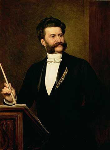 Joseph Strauss II - portrait by Eisenmenger (image)