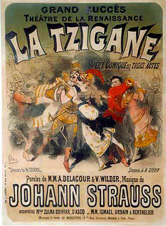 Playbill for The Gipsy Baron by Johann Strauss II (image)