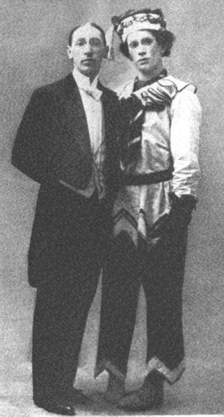 Igor Stravinsky and Vaslav Nijinsky 1911 (image)
