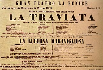 Poster for La Traviata premiere (image)