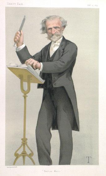 Verdi rehearsing musicians for his opera, Falstaff (image)