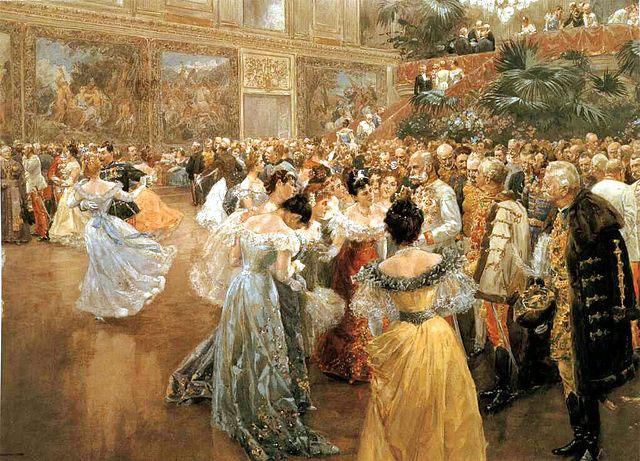 Vienna Waltz/Hofball in Wien - painting by Wilhelm Gause (image)